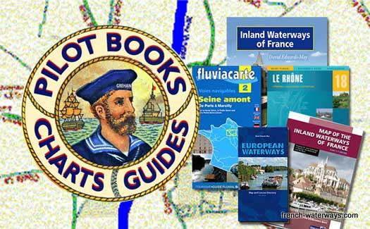 French canals books guides maps charts