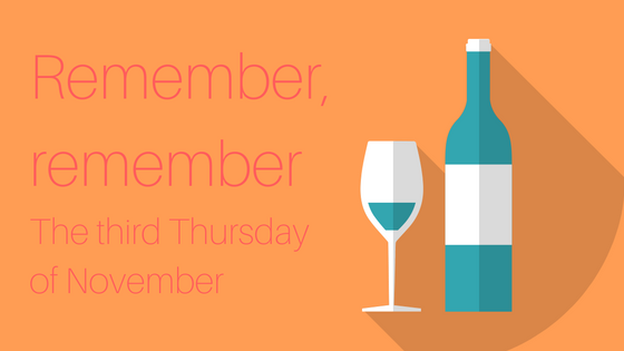 Beaujolais Nouveau is released on the third Thursday of November