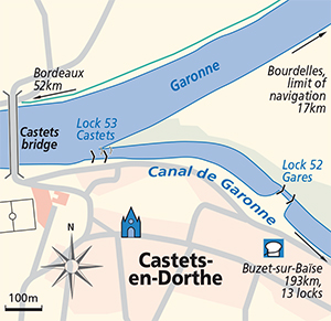 Castets-en-Dorthe junction plan