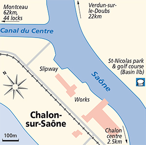 Chalon sur Saone junction Plan Saone