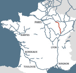 Canal Champagne Bourgogne France Map
