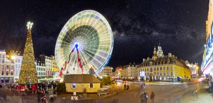 Christmas markets in France - the Lille Ferris wheel
