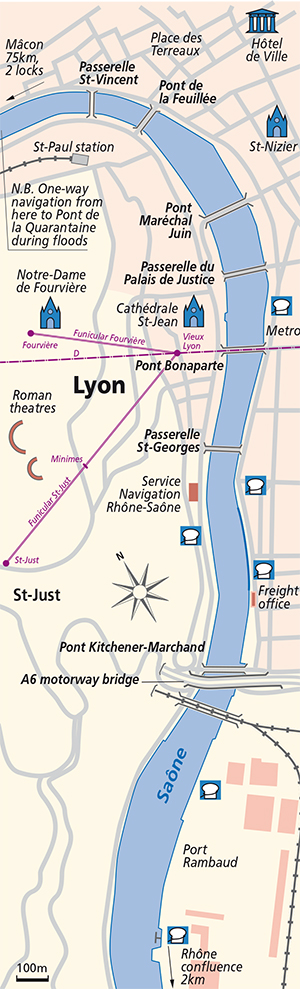 Lyon junction Plan Saone