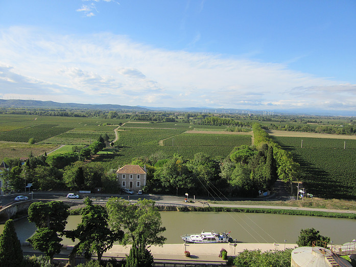 View over the Minervois Countryside Canal du Midi