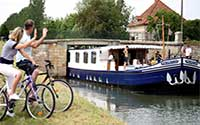 Canal towpath cycling walking