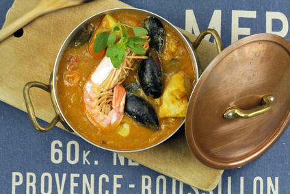 Bouillabaisse a typical French dish