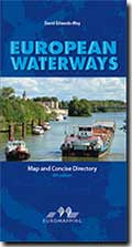 Inland Waterways Rivers and Canals of Europe map