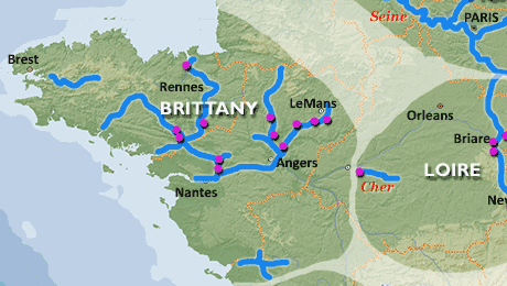 Brittany waterway region