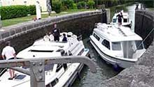 Navigation guide information for the French canals and rivers