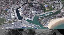 Calais port and canals
