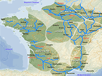 The river and canal regions of France