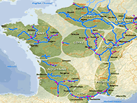 The river and canal regions of France - hire bases
