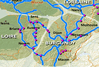 Burgundy Region - hire boat bases