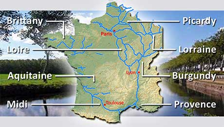 river canal regions france