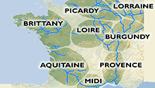 River and canal regions of France