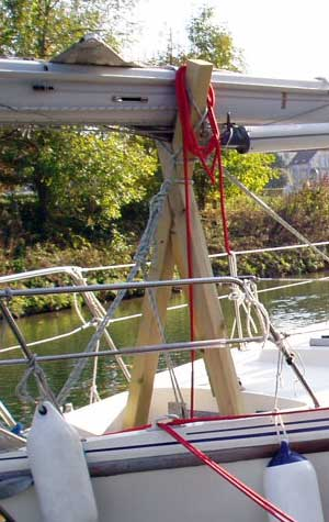 French waterways canals rivers - yacht masts