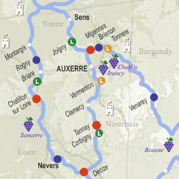 self-drive canal boat rentals map