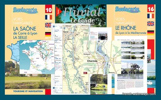 French canal navigation guide Fluviacarte