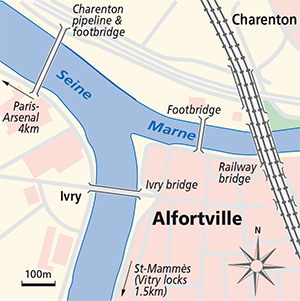 Junction Plan Seine Marne Alfortville