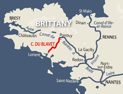 Canal de Blavet location map