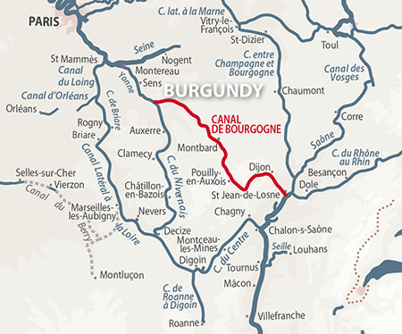 Canal de Bourgogne | Detailed Navigation Guide and Maps | French ...