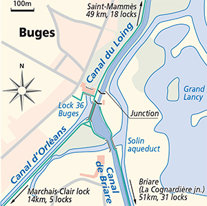 Buges Canal du Loing Orleans Briare Map
