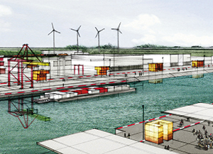 Artist's impression of the multimodal port platform at Marquion-Cambrai. © VNF Mission Seine-Nord Europe