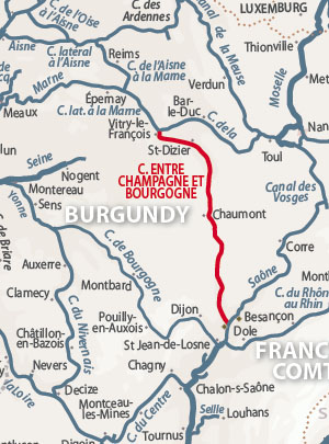 Canal Champagne Bourgogne Map