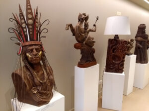 Chocolate sculptures Toulouse France