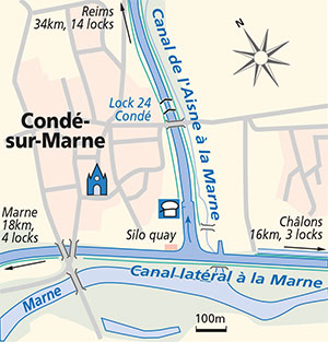 Conde-s-Marne junction plan