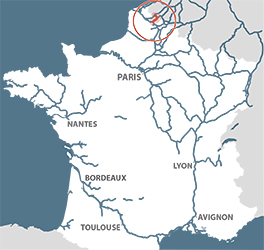 Canal de la Deule location map France
