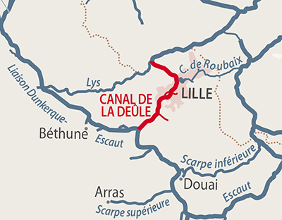 Canal de la Deule region map
