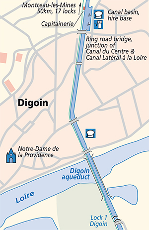 Canal du Centre Digoin junction plan