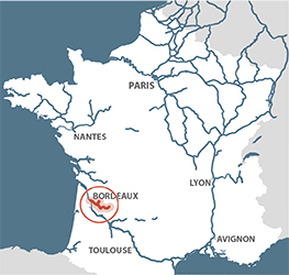 River Dordogne Frenchwaterwayscom - Where is france on the map