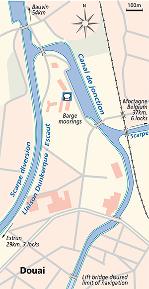 Douai junction plan Scarpe