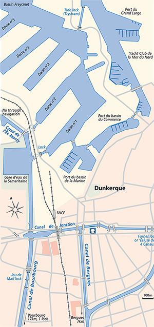 Dunkerque waterways ports