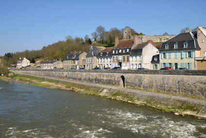 The picturesque city of La Charite sur Loire in Bourgogne
