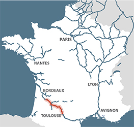 Canal de Garonne France Map
