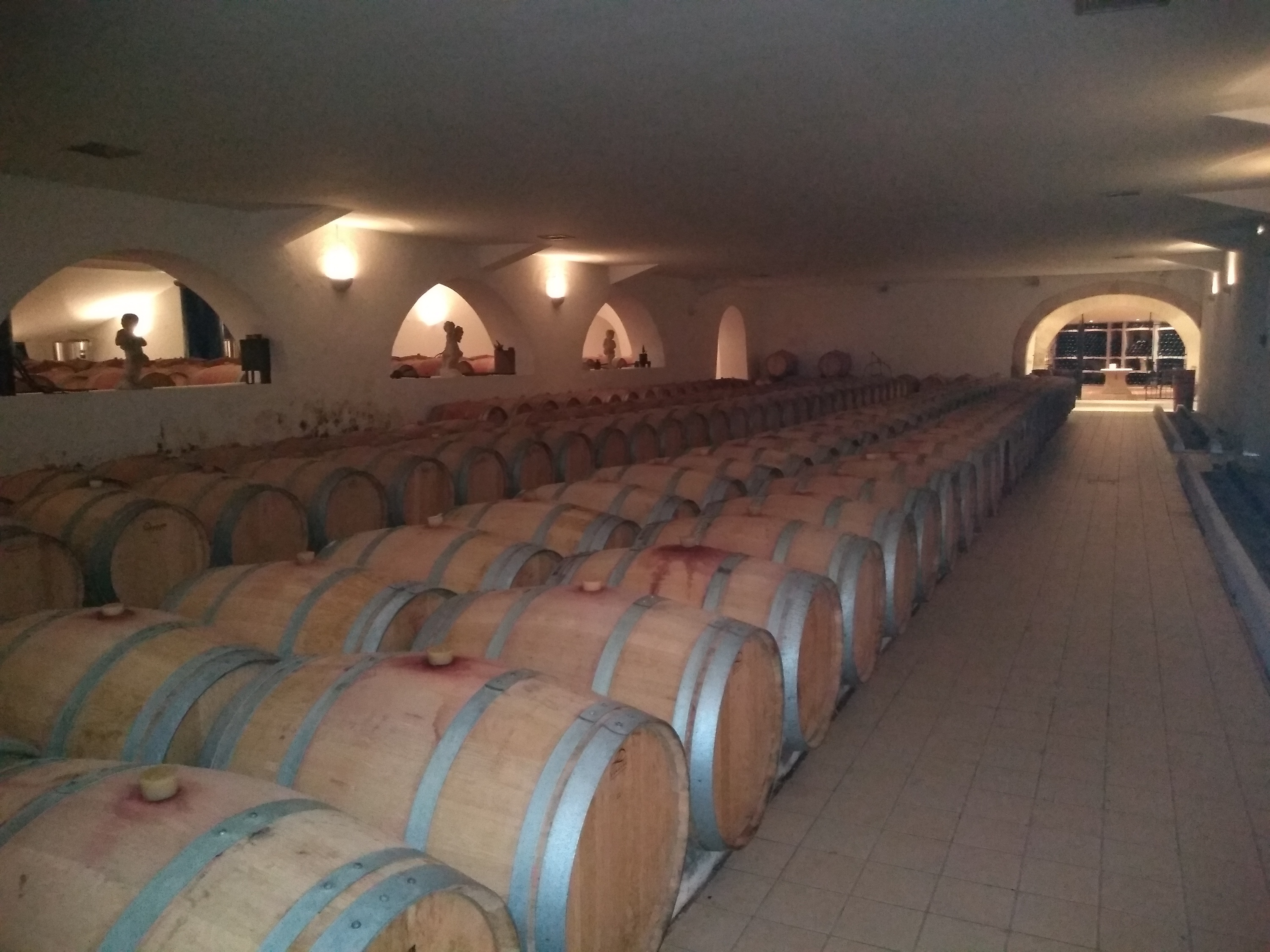Chateau Prieure Lichine vineyard matures its wines in barrels from many different coopers.