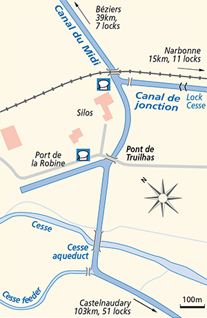Canal du Midi La Robine Junction Plan