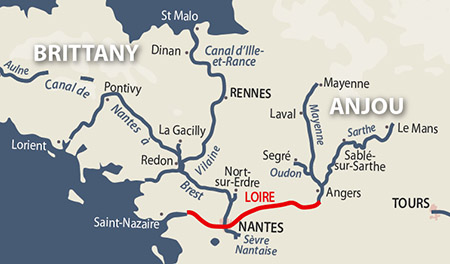 Loire River Map River Loire | Detailed Navigation Guide and Maps | French Waterways
