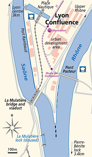 Lyon Confluence junction plan