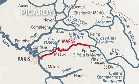 River Marne region location map