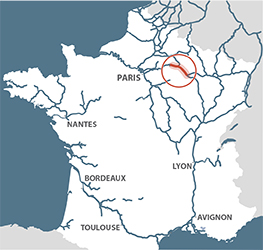 Canal lateral a la Marne map France