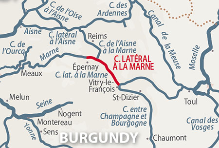 Canal lateral a la Marne region map