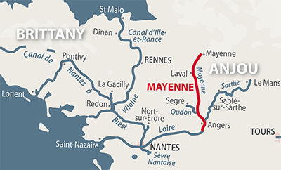 River Mayenne River Maine and River Oudon French Waterways in