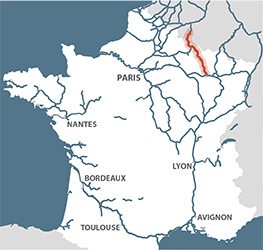 River Canal Meuse France Map
