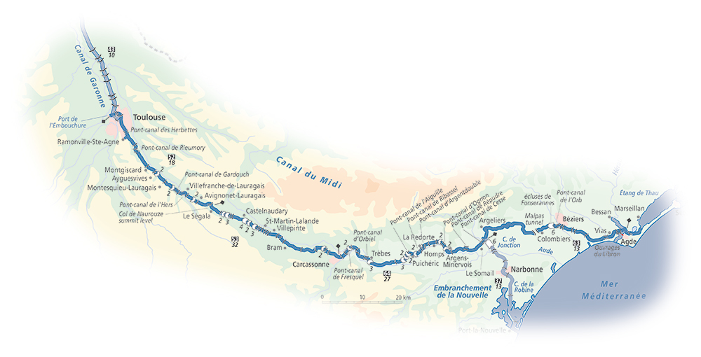 Canal du Midi | Detailed Navigation Guide and Maps | French Waterways