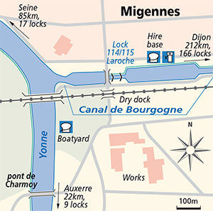 Migennes junction plan