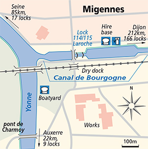 Junction Plan Yonne Migennes